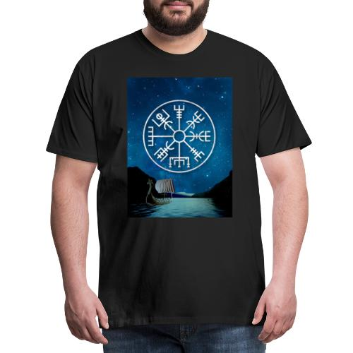 Vegvisir fiordo vichingo - Maglietta Premium da uomo
