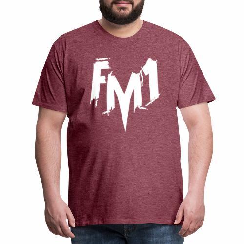 Fm1 - emo white - Herre premium T-shirt