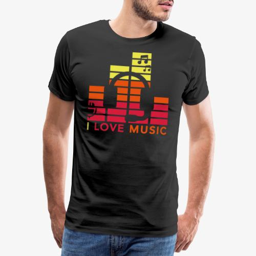 I love music Illustration Gig Band Musik Godigart - Männer Premium T-Shirt