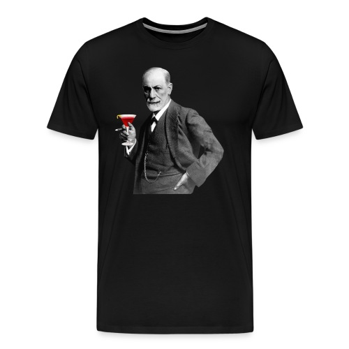 Sigmund Freud mit Cocktail - Männer Premium T-Shirt