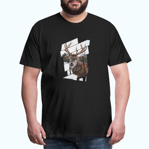 Hipster reindeer - Men's Premium T-Shirt