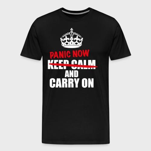 Keep Calm - Premium T-skjorte for menn