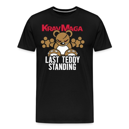 Teddy »KravMaga« – Only Black! - Männer Premium T-Shirt