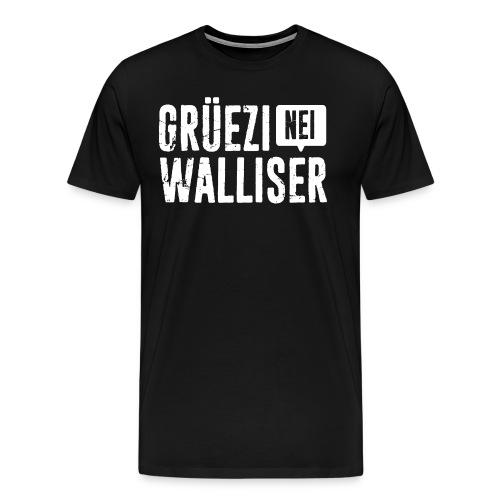 Grüezi – Nei, Walliser - Männer Premium T-Shirt