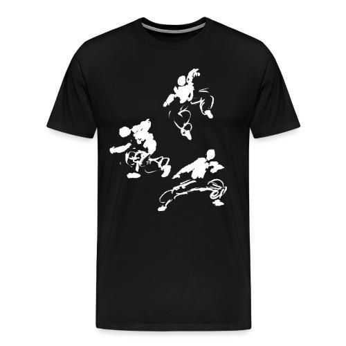 Kung fu circle / ink fighter in motion - Men's Premium T-Shirt