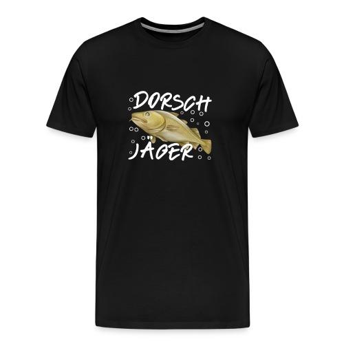 cod Dorsch Jäger Hunter Geschenk Angler - Männer Premium T-Shirt