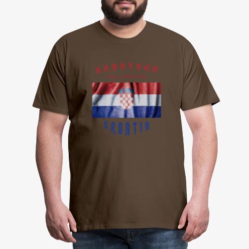Croatia Hrvatska Flag - Männer Premium T-Shirt