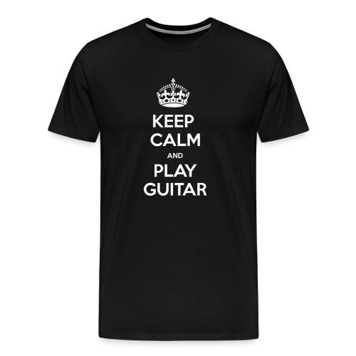 Keep Calm And Play Guitar - Maglietta Premium da uomo