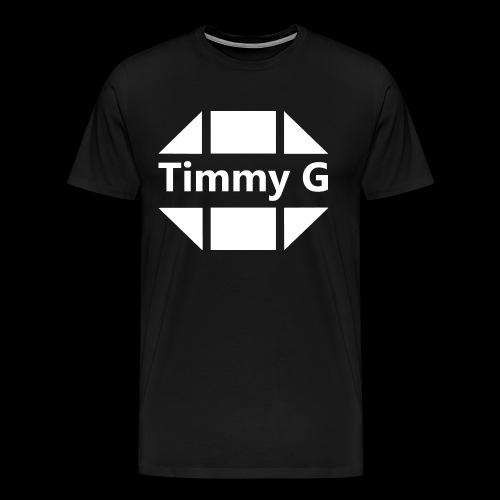 Triangles Timmy G White - T-shirt Premium Homme
