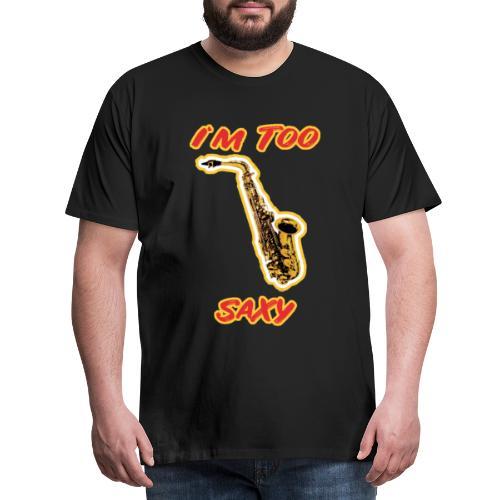 Saxophonspieler Saxophonist Geschenk Instrument - Männer Premium T-Shirt