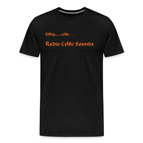 Shirt orange Schrift jpg - Männer Premium T-Shirt