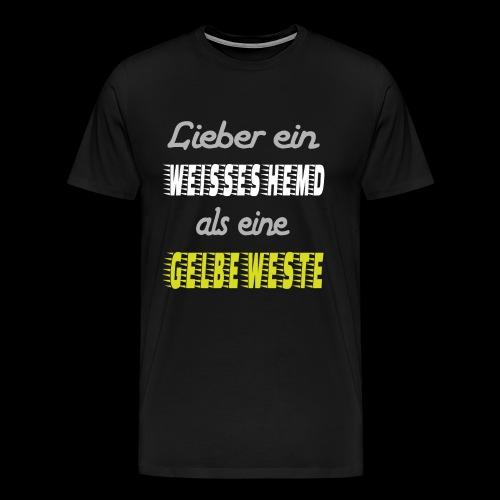 Lieber ein weisses Hemd - Männer Premium T-Shirt