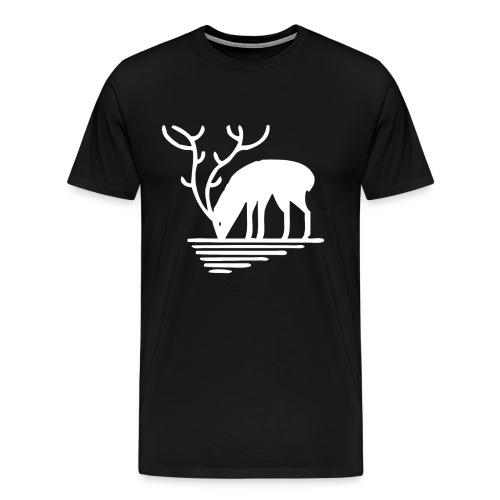 Hirsch Symbol Wild Wildtier Natur Reh - Männer Premium T-Shirt