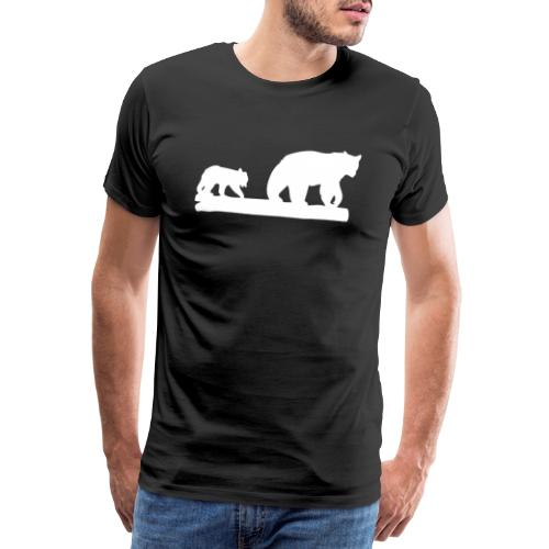 Bär Bären Grizzly Raubtier Wildnis Nordamerika - Männer Premium T-Shirt