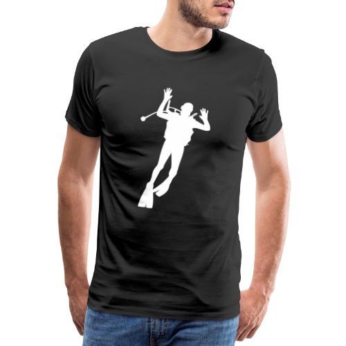 Taucher Silhouette Symbol Tauchen Urlaub - Männer Premium T-Shirt