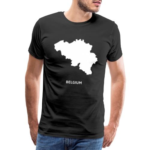Europa Silhouette Symbol Belgien Land Staat - Männer Premium T-Shirt