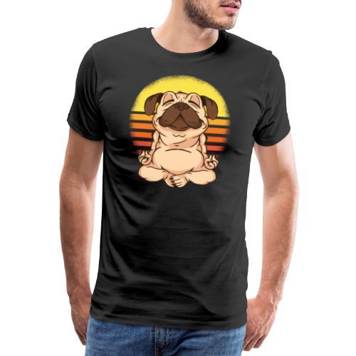Yogahund - Männer Premium T-Shirt