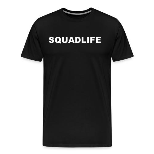 SQUADLIFE Schriftzug Design mit Rückendruck - Männer Premium T-Shirt