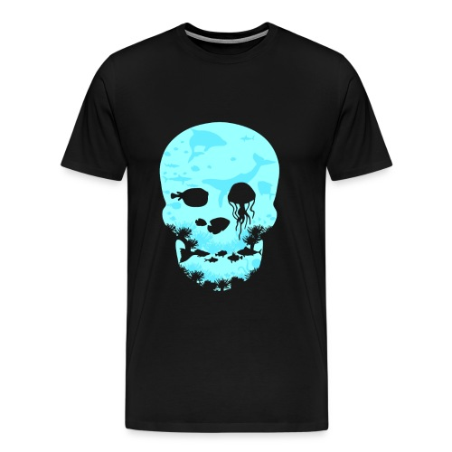 Totenkopf Ozean Meer - Männer Premium T-Shirt