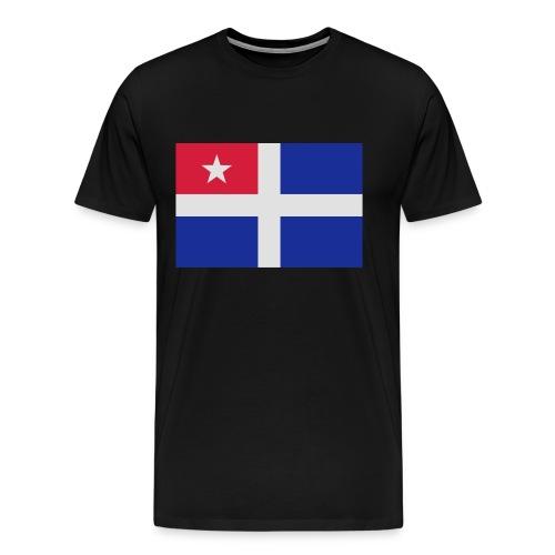 Kreta-Flagge Geschenk Reise - Männer Premium T-Shirt