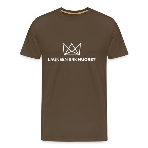 Laune logo tekstialla white png - Miesten premium t-paita