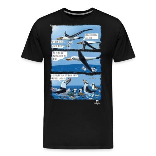 El plástico y las aves pelágicas. - Camiseta premium hombre
