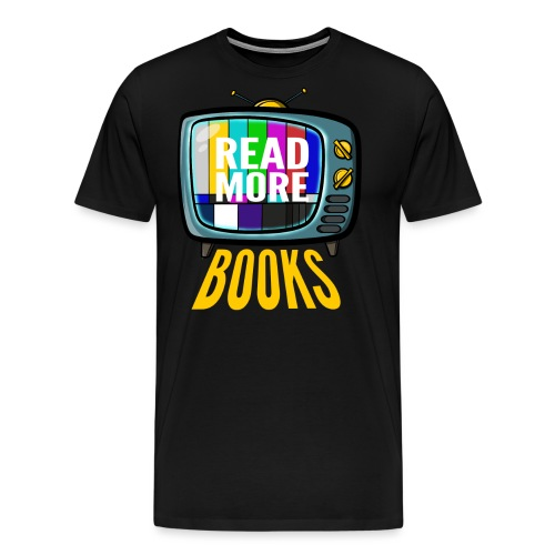 Read more books - Männer Premium T-Shirt