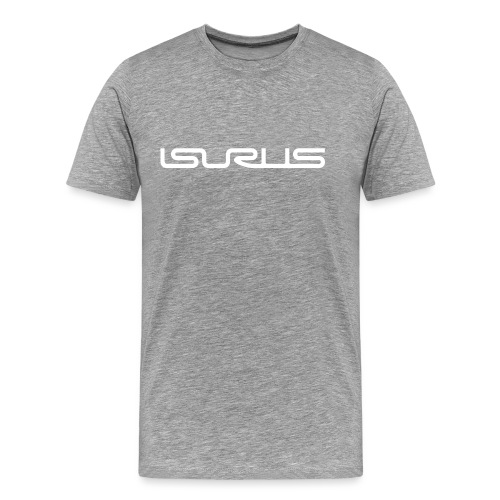 Isurus Text Logo White - Men's Premium T-Shirt