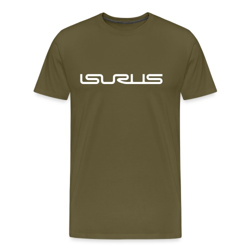 Isurus Text Logo White - Men's Premium T-Shirt