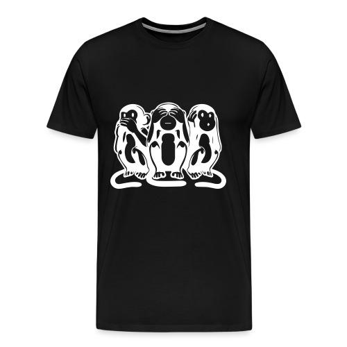 Les 3 singes - T-shirt Premium Homme
