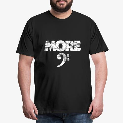 More Bass Vintage White - Männer Premium T-Shirt