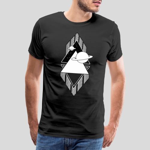 Universum - Black and White - Männer Premium T-Shirt