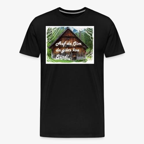 auf da oim - Männer Premium T-Shirt