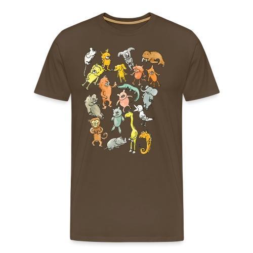 Farandole d'animaux - T-shirt Premium Homme
