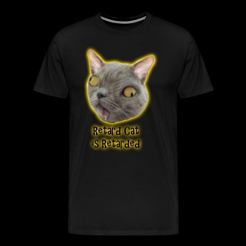 Retarded Cat - Premium-T-shirt herr