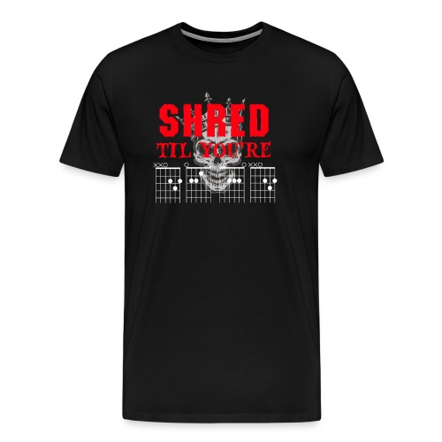 Shred til Dead Chords - Premium-T-shirt herr