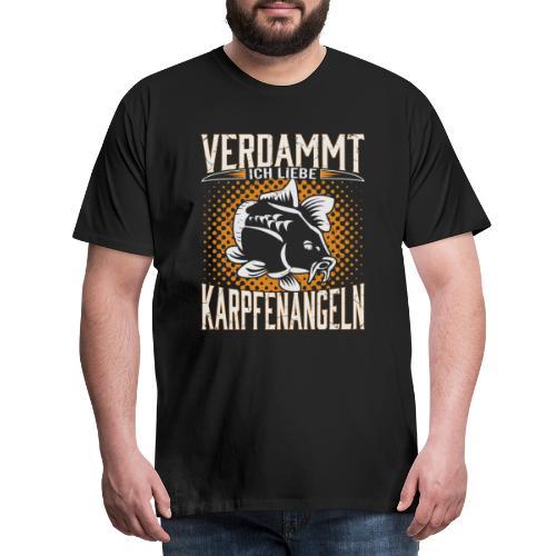 Ich Liebe Karpfen angeln - Männer Premium T-Shirt
