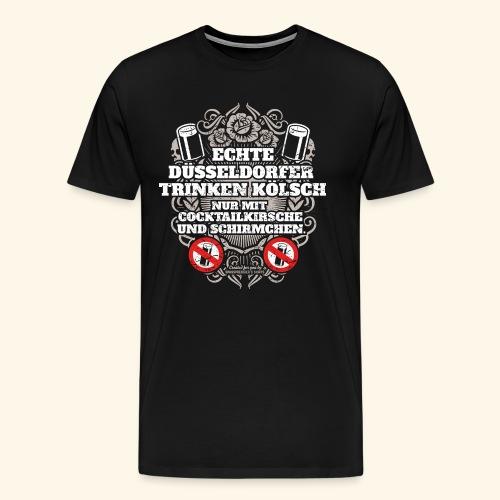 Düsseldorf T Shirt Spruch Echte Düsseldorfer - Männer Premium T-Shirt