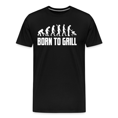 born to grill evolution - Männer Premium T-Shirt