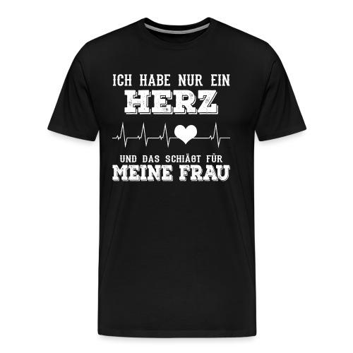 Herz Frau - Männer Premium T-Shirt