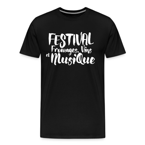 Festival Fromages, Vins et Musique - T-shirt Premium Homme