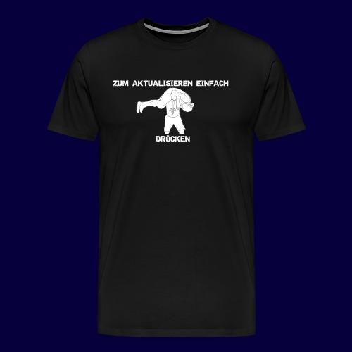 F5 Drücken Weiß - Männer Premium T-Shirt
