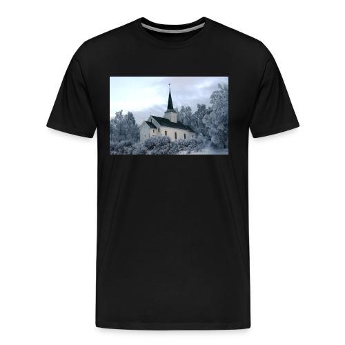 holter kirke - Premium T-skjorte for menn