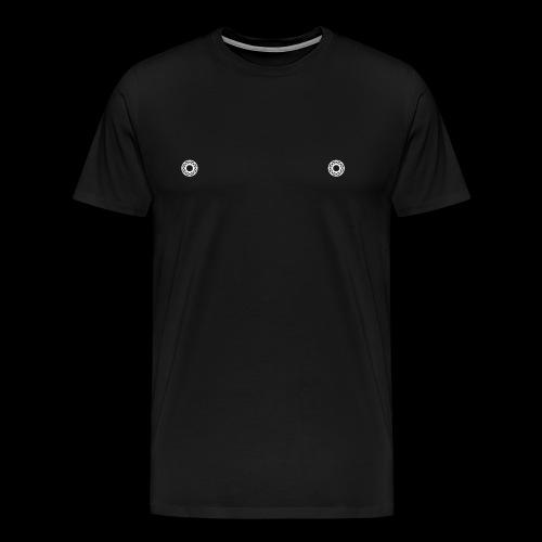 KUGELLAGER x NIPPEL x WEIß - Männer Premium T-Shirt