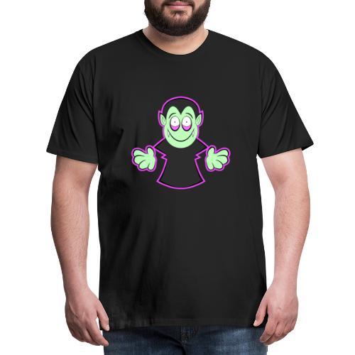 Süßes Vampir Halloween Design - Männer Premium T-Shirt