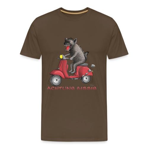 Hyäne - Achtung bissig - Männer Premium T-Shirt