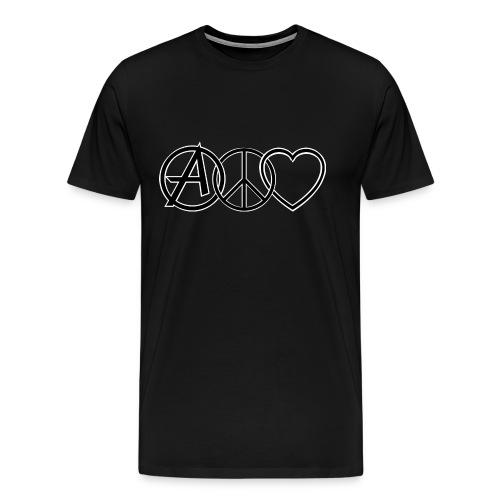 ANARCHY PEACE & LOVE - Men's Premium T-Shirt