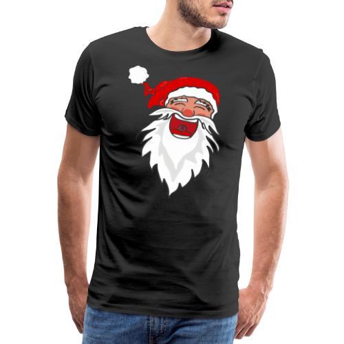 Lachender Nikolaus Santa Clause Weihnachten - Männer Premium T-Shirt