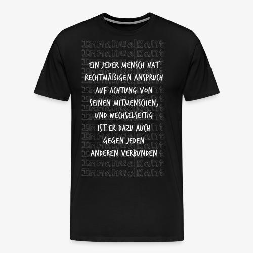 Achtung Immanuel Kant Zitat Spruch Geschenk Idee - Männer Premium T-Shirt