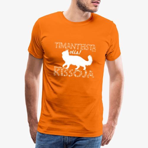 Kissoja Dimangi - Miesten premium t-paita